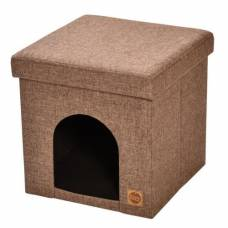 Pouf Bobby marron