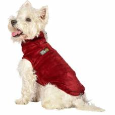 Pull chien Snowflake rouge