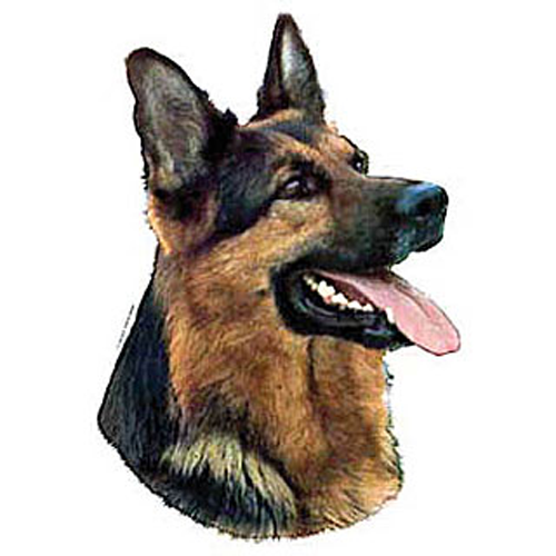 Autocollant Berger Allemand tête pour chien - Difac | Auberdog