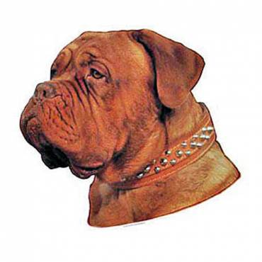 autocollant dogue de bordeaux pour chien difac auberdog. Black Bedroom Furniture Sets. Home Design Ideas