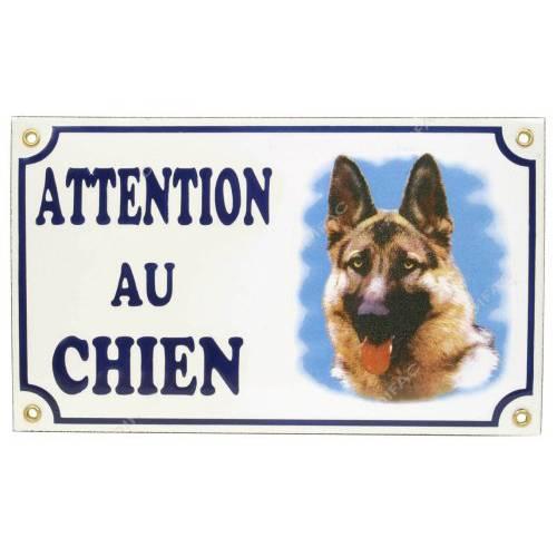 plaque attention au chien berger allemand pour chien difac auberdog. Black Bedroom Furniture Sets. Home Design Ideas