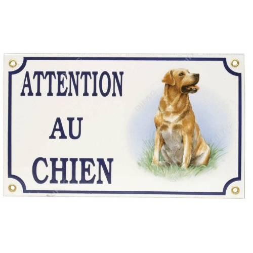 plaque attention au chien labrador pour chien difac auberdog. Black Bedroom Furniture Sets. Home Design Ideas