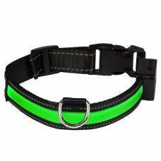 Collier lumineux USB rechargeable vert