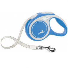Laisse Sangle enrouleur Flexi New COMFORT Bleu