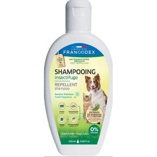 shampoing anti puce insectifuge fra cheur pour chat francodex auberdog. Black Bedroom Furniture Sets. Home Design Ideas