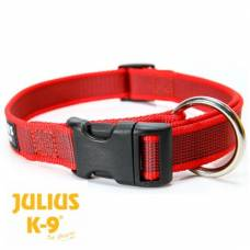 Collier Julius K9 color gray rouge