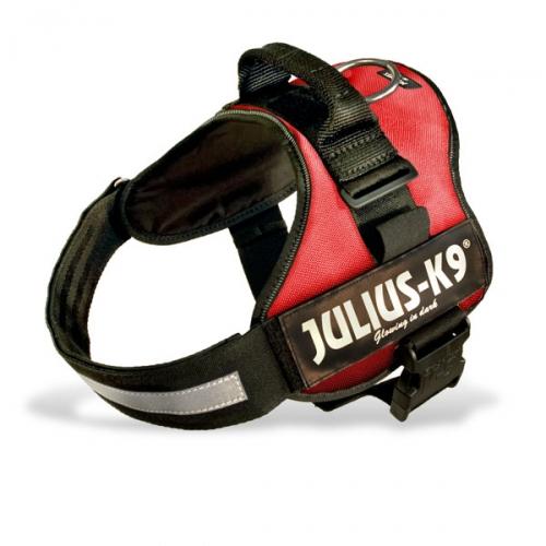 Harnais Julius-K9 Power rouge pour chien - Julius K9