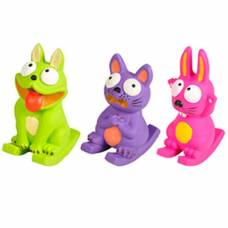Jouet latex chien chat ou lapin assis