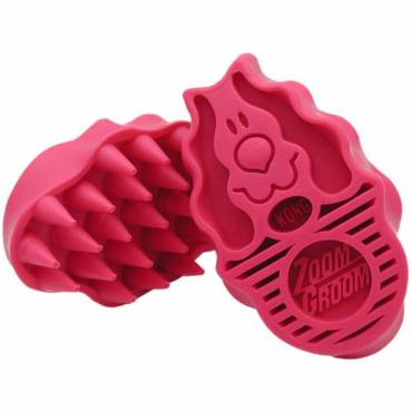 Brosse Groom rose pour chien - Kong