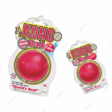 Balle Kong rouge pour chien - Kong
