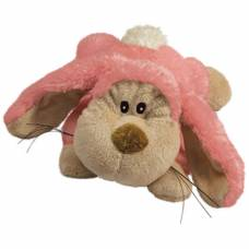 Peluche chien Kong Cozie rose
