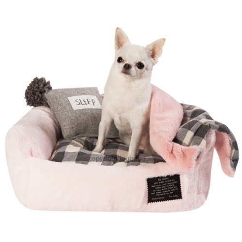 panier furry boom rose pour chien louisdog auberdog. Black Bedroom Furniture Sets. Home Design Ideas