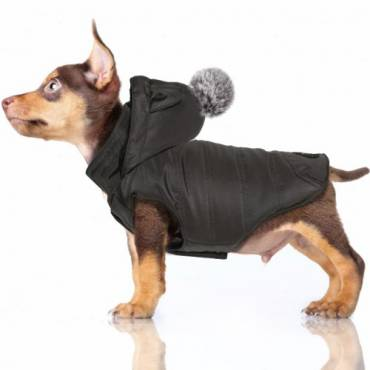Manteau Kimi gris pour chien - Milk and Pepper