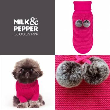 Pull Cocoon rose pour chien - 4