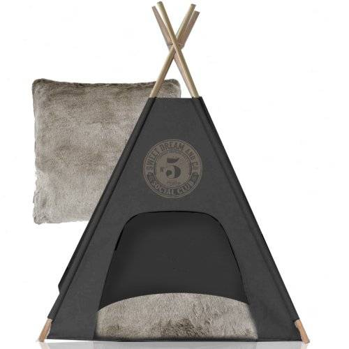 teepee social club gris pour chien noox auberdog. Black Bedroom Furniture Sets. Home Design Ideas