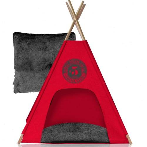 teepee social club rouge pour chien noox auberdog. Black Bedroom Furniture Sets. Home Design Ideas