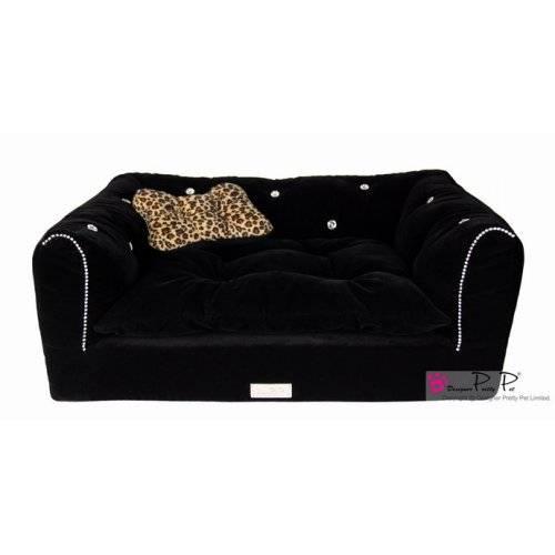 Canap luxus noir pour chien pretty pet auberdog for Canape pour chien
