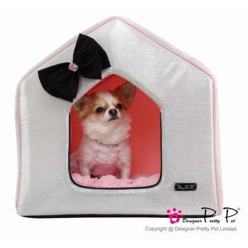 maison bling bling silver pour chien pretty pet auberdog. Black Bedroom Furniture Sets. Home Design Ideas
