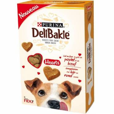 Biscuits Purina DeliBakie Hearts pour chien - Purina