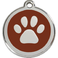 Médaille Red Dingo chocolat motif Patte