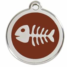 Médaille Red Dingo marron motif Poisson
