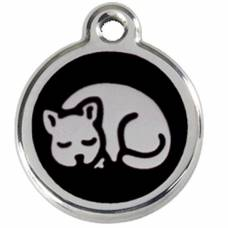 Médaille Red Dingo noir motif Chat