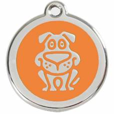 Médaille Red Dingo orange motif Chien