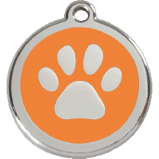 Médaille Red Dingo orange motif Patte