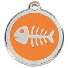 Médaille Red Dingo orange motif Poisson