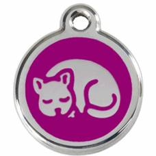 Médaille Red Dingo purple motif Chat