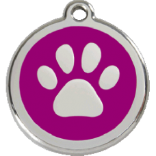 Médaille Red Dingo purple motif Patte