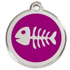 Médaille Red Dingo purple motif Poisson