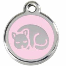 Médaille Red Dingo rose clair motif Chat