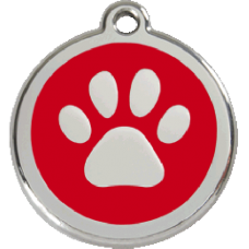 Médaille Red Dingo rouge motif Patte