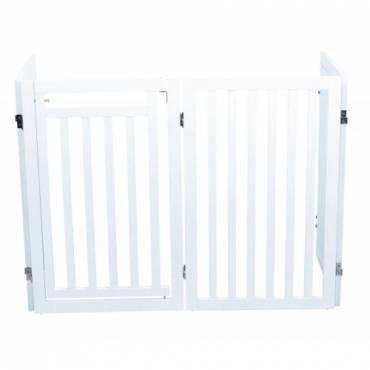 barri re de s curit avec porte blanc pour chien trixie. Black Bedroom Furniture Sets. Home Design Ideas