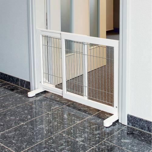 barri re de s curit blanc chiot pour chien trixie. Black Bedroom Furniture Sets. Home Design Ideas