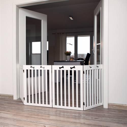 barri re de s curit os blanc xl pour chien trixie. Black Bedroom Furniture Sets. Home Design Ideas
