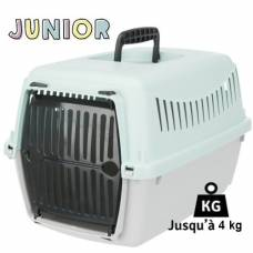 Cage de transport Junior gris et menthe