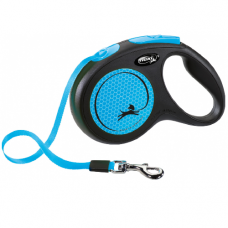 Laisse enrouleur sangle Flexi New NEON BLEU