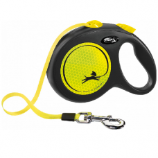 Laisse enrouleur sangle Flexi New NEON JAUNE