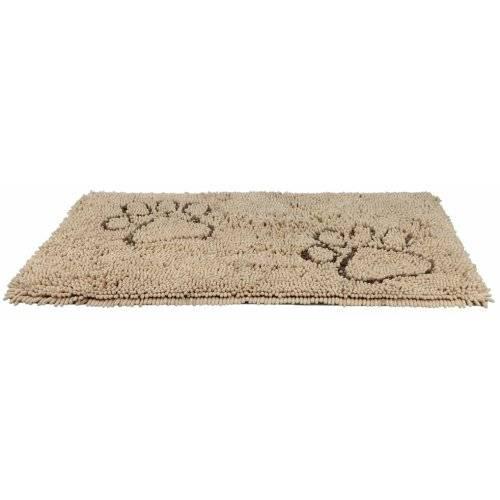 tapis microfibre absorbant anti salet 233 s beige pour chien trixie auberdog
