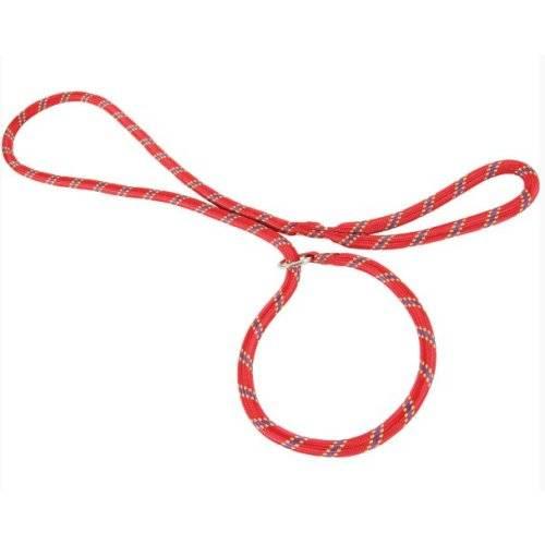 Laisse lasso ronde corde rouge pour chien zolux auberdog - Laisse corde gros chien ...