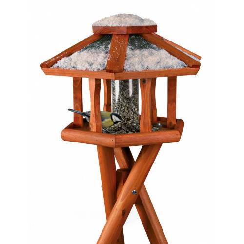 mangeoire avec pied natura hexagone de luxe pour oiseau. Black Bedroom Furniture Sets. Home Design Ideas