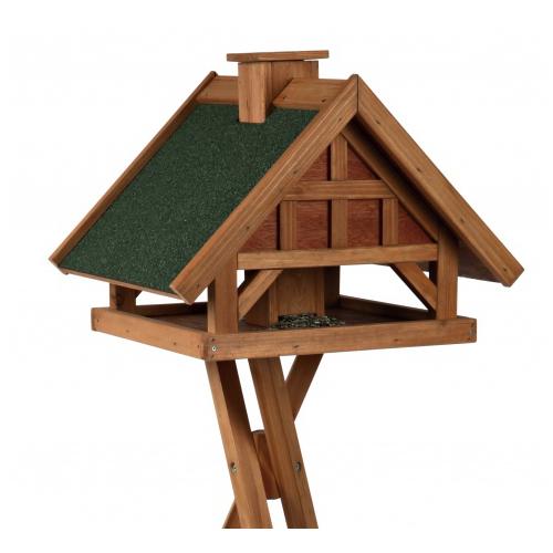 Mangeoire avec pied natura silo de luxe pour oiseau - Plan de mangeoire pour oiseaux du jardin ...