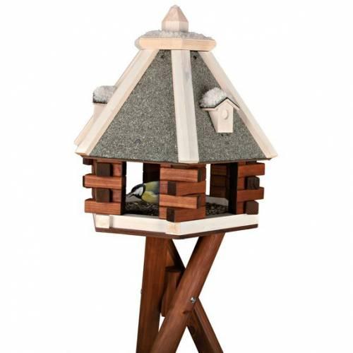 mangeoire oiseau natura hiver sur pied pour oiseau. Black Bedroom Furniture Sets. Home Design Ideas