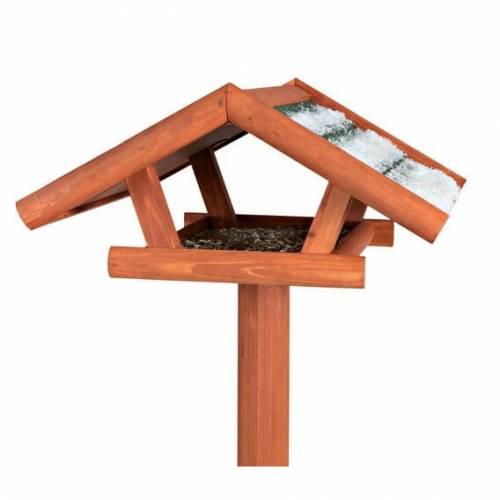 mangeoire oiseau sur pied natura en bois pour oiseau. Black Bedroom Furniture Sets. Home Design Ideas