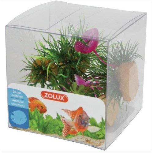 Plantes plastique aquarium fleur pour poisson zolux for Aquarium plastique