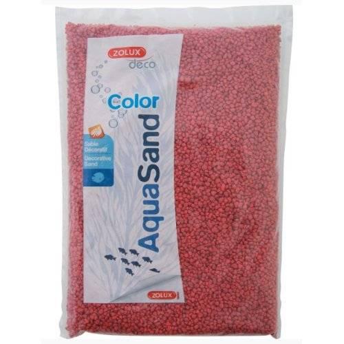 sable rouge framboise aquarium aquasand color pour poisson zolux auberdog. Black Bedroom Furniture Sets. Home Design Ideas