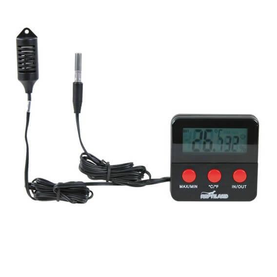 Thermo hygromètre digital avec sonde Reptiland pour reptile Trixie | Auberdog