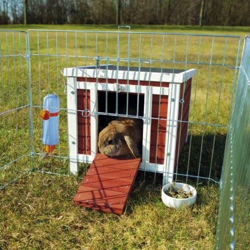 cabane lapin et cochon d 39 inde bicolore natura pour rongeur trixie auberdog. Black Bedroom Furniture Sets. Home Design Ideas